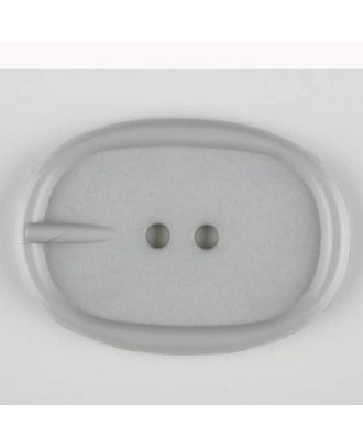 Polyamidknopf im Gürtelschnallenlook,  2-loch - Größe: 45mm - Farbe: grau - Art.Nr. 423701