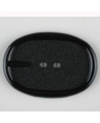 Polyamidknopf im Gürtelschnallenlook,  2-loch - Größe: 45mm - Farbe: schwarz - Art.Nr. 420075