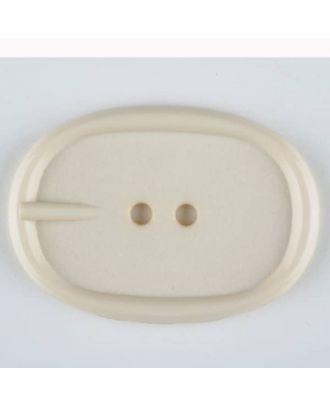 Polyamidknopf im Gürtelschnallenlook,  2-loch - Größe: 45mm - Farbe: beige - Art.Nr. 423702