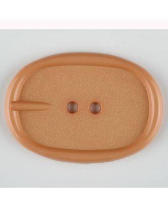 Polyamidknopf im Gürtelschnallenlook,  2-loch - Größe: 45mm - Farbe: beige - Art.Nr. 423703
