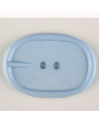 Polyamidknopf im Gürtelschnallenlook,  2-loch - Größe: 45mm - Farbe: blau - Art.Nr. 423704