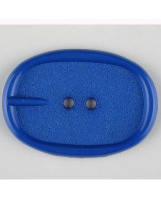 Polyamidknopf im Gürtelschnallenlook,  2-loch - Größe: 45mm - Farbe: blau - Art.Nr. 423705