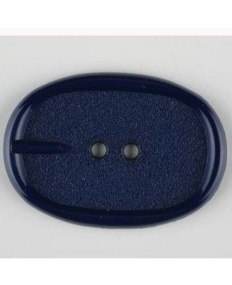 Polyamidknopf im Gürtelschnallenlook,  2-loch - Größe: 45mm - Farbe: marineblau - Art.Nr. 423707