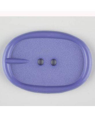 Polyamidknopf im Gürtelschnallenlook,  2-loch - Größe: 45mm - Farbe: lila - Art.Nr. 423708