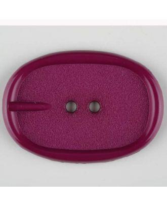 Polyamidknopf im Gürtelschnallenlook,  2-loch - Größe: 45mm - Farbe: lila - Art.Nr. 423709