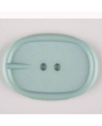 Polyamidknopf im Gürtelschnallenlook,  2-loch - Größe: 45mm - Farbe: grün - Art.Nr. 423710