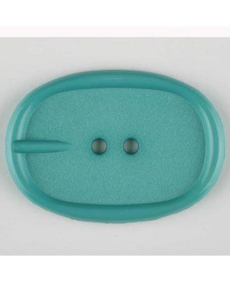 Polyamidknopf im Gürtelschnallenlook,  2-loch - Größe: 45mm - Farbe: grün - Art.Nr. 423711