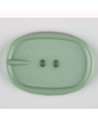 Polyamidknopf im Gürtelschnallenlook,  2-loch - Größe: 45mm - Farbe: grün - Art.Nr. 423712