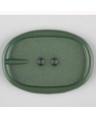 Polyamidknopf im Gürtelschnallenlook,  2-loch - Größe: 45mm - Farbe: grün - Art.Nr. 423713