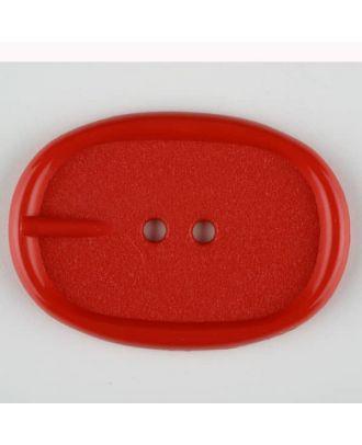 Polyamidknopf im Gürtelschnallenlook,  2-loch - Größe: 45mm - Farbe: rot - Art.Nr. 423714