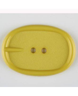 Polyamidknopf im Gürtelschnallenlook,  2-loch - Größe: 45mm - Farbe: gelb - Art.Nr. 423715