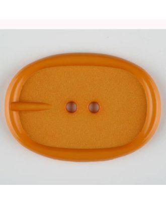 Polyamidknopf im Gürtelschnallenlook,  2-loch - Größe: 45mm - Farbe: orange - Art.Nr. 423716