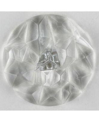 Plexiglasknopf mit Edelsteinschliff mit Öse - Größe: 20mm - Farbe: transparent - Art.Nr. 310891