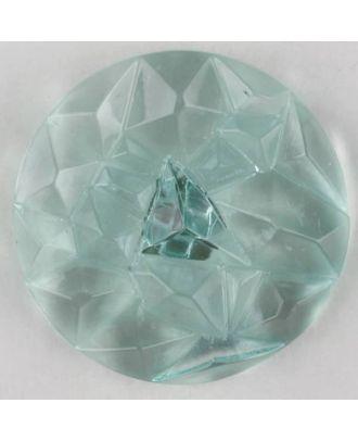 Plexiglasknopf mit Edelsteinschliff mit Öse - Größe: 20mm - Farbe: grün - Art.Nr. 313734