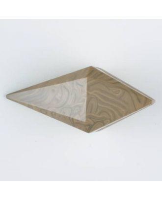 Polyamidknopf, Knebel mit Kanalöse - Größe: 42mm - Farbe: beige - Art.Nr. 424700