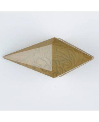 Polyamidknopf, Knebel mit Kanalöse - Größe: 42mm - Farbe: beige - Art.Nr. 424701