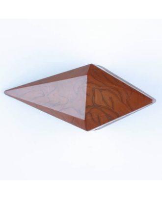 Polyamidknopf, Knebel mit Kanalöse - Größe: 42mm - Farbe: braun - Art.Nr. 424702