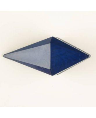 Polyamidknopf, Knebel mit Kanalöse - Größe: 42mm - Farbe: blau - Art.Nr. 424703