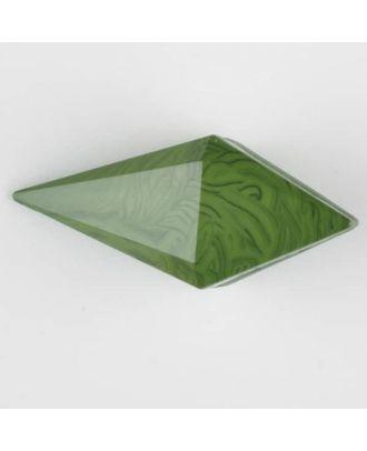 Polyamidknopf, Knebel mit Kanalöse - Größe: 42mm - Farbe: grün - Art.Nr. 424705