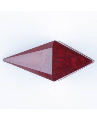 Polyamidknopf, Knebel mit Kanalöse - Größe: 42mm - Farbe: weinrot - Art.Nr. 424707
