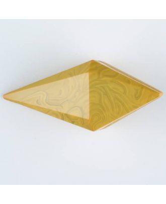 Polyamidknopf, Knebel mit Kanalöse - Größe: 42mm - Farbe: gelb - Art.Nr. 424708