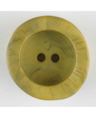 Polyamidknopf mit charaktervoller Struktur und tiefem Tellerrand, rund, 2 loch - Größe: 20mm - Farbe: grün - Art.Nr. 314729