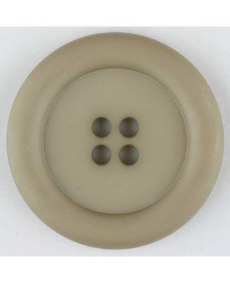 Polyamidknopf, mit breitem Rand, rund, 4 loch - Größe: 20mm - Farbe: beige - Art.Nr. 265716
