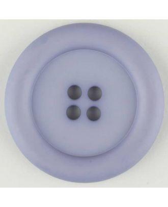 Polyamidknopf, mit breitem Rand, rund, 4 loch - Größe: 20mm - Farbe: lila - Art.Nr. 265724