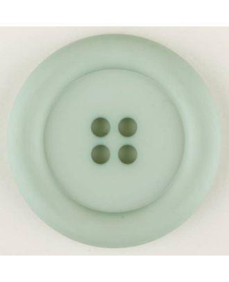 Polyamidknopf, mit breitem Rand, rund, 4 loch - Größe: 20mm - Farbe: grün - Art.Nr. 265725