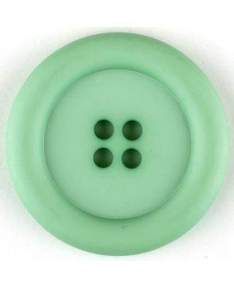 Polyamidknopf, mit breitem Rand, rund, 4 loch - Größe: 20mm - Farbe: grün - Art.Nr. 265726