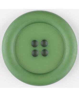 Polyamidknopf, mit breitem Rand, rund, 4 loch - Größe: 20mm - Farbe: grün - Art.Nr. 265727