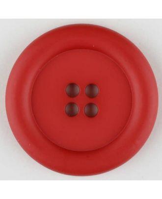 Polyamidknopf, mit breitem Rand, rund, 4 loch - Größe: 20mm - Farbe: rot - Art.Nr. 265728