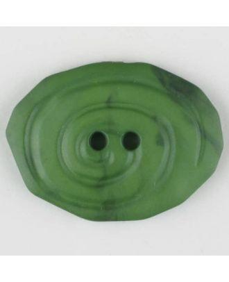 Polyamidknopf, marmoriert, oval, 2 loch - Größe: 30mm - Farbe: grün - Art.Nr. 345748