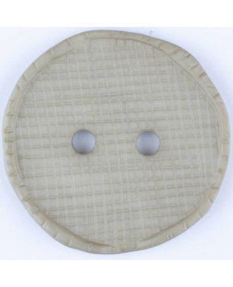 Polyamidknopf glänzend mit Vertiefungen, rund, 2 Loch -  Größe: 23mm - Farbe: grau - Art.Nr. 315755