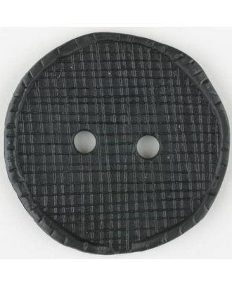 Polyamidknopf glänzend mit Vertiefungen, rund, 2 Loch - Größe: 32mm - Farbe: schwarz - Art.Nr. 370743