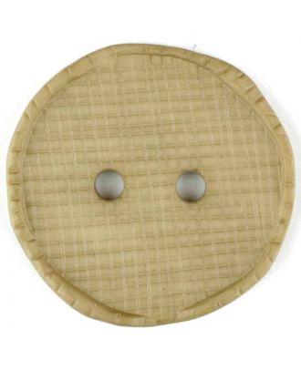 Polyamidknopf glänzend mit Vertiefungen, rund, 2 Loch - Größe: 32mm - Farbe: beige - Art.Nr. 375713