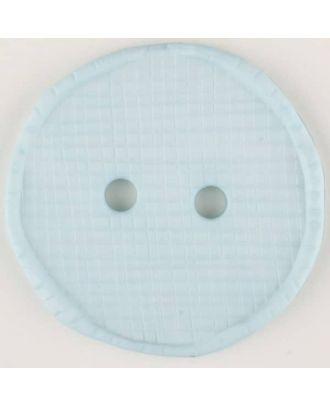 Polyamidknopf glänzend mit Vertiefungen, rund, 2 Loch - Größe: 23mm - Farbe: blau - Art.Nr. 315759