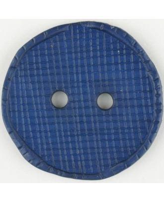 Polyamidknopf glänzend mit Vertiefungen, rund, 2 Loch - Größe: 32mm - Farbe: blau - Art.Nr. 375717