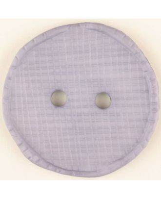 Polyesterknopf glänzend, mit Vertiefungen, rund, 2 Loch - Größe: 32mm - Farbe: lila - Art.Nr. 375718