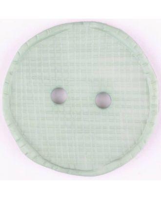Polyesterknopf glänzend, mit Vertiefungen, rund, 2 Loch - Größe: 32mm - Farbe: grün - Art.Nr. 375719