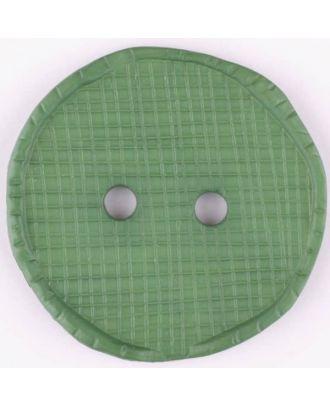 Polyesterknopf glänzend, mit Vertiefungen, rund, 2 Loch - Größe: 32mm - Farbe: grün - Art.Nr. 375720
