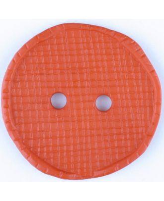 Polyesterknopf glänzend, mit Vertiefungen, rund, 2 Loch - Größe: 32mm - Farbe: rot - Art.Nr. 375721