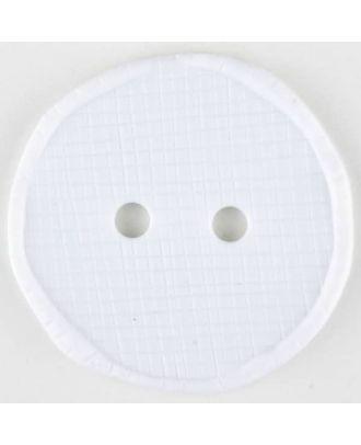 Polyamidknopf glänzend mit Vertiefungen, rund, 2 Loch -  Größe: 32mm - Farbe: weiß - Art.Nr. 370742