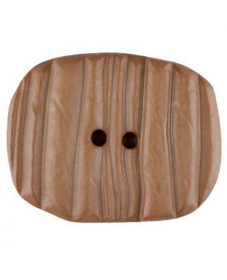 Polyamidknopf patiniert, oval, 2 loch - Größe: 28mm - Farbe: beige - Art.Nr. 346703