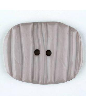Polyamidknopf patiniert, oval, 2 loch - Größe: 34mm - Farbe: beige - Art.Nr. 376725