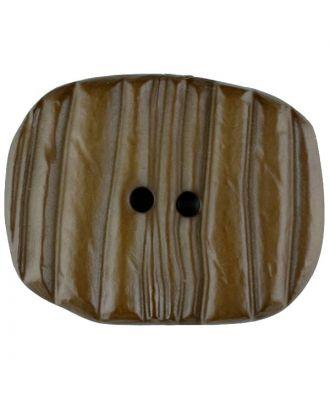 Polyamidknopf patiniert, oval, 2 loch - Größe: 34mm - Farbe: braun - Art.Nr. 376726
