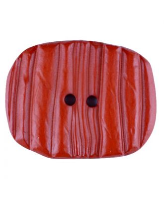 Polyamidknopf patiniert, oval, 2 loch - Größe: 34mm - Farbe: orange - Art.Nr. 376733