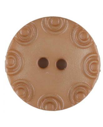 Polyamidknopf, von Kreisen umrandet, rund, 2 loch - Größe: 13mm - Farbe: beige - Art.Nr. 216702