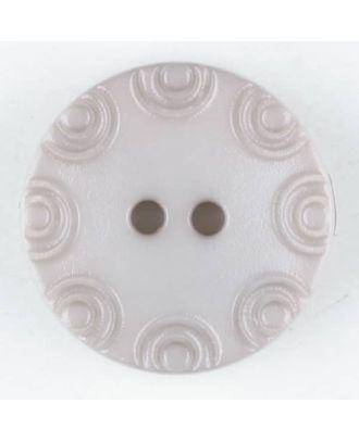 Polyamidknopf, von Kreisen umrandet, rund, 2 loch - Größe: 13mm - Farbe: beige - Art.Nr. 216703
