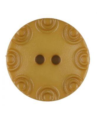 Polyamidknopf, von Kreisen umrandet, rund, 2 loch - Größe: 13mm - Farbe: gelb - Art.Nr. 216716